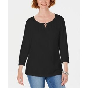 Karen Scott Three-Quarter Sleeve Top